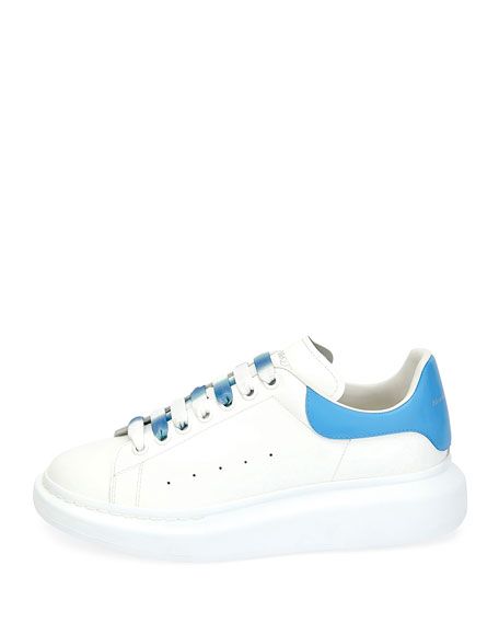 Alexander McQueen Men's Larry Colorblock Leather Sneakers with Ombre Laces