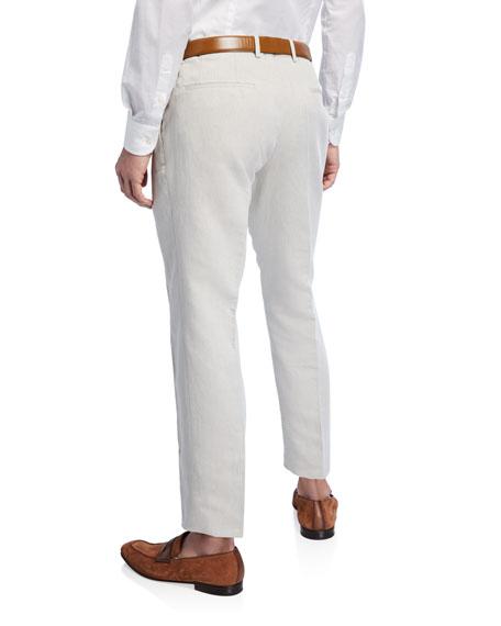 BOSS Men's Linen-Cotton Slim Fit Dress Pants