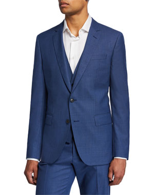 04b9a3d1de8ef1 BOSS Men's Slim-Fit Three-Piece Wool Suit