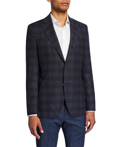 BOSS Men's Plaid Regular-Fit Two-Button Jacket
