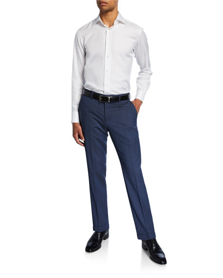 BOSS Men's Slim-Fit Wool Pants