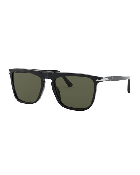 Persol Men's Rectangle Acetate Sunglasses
