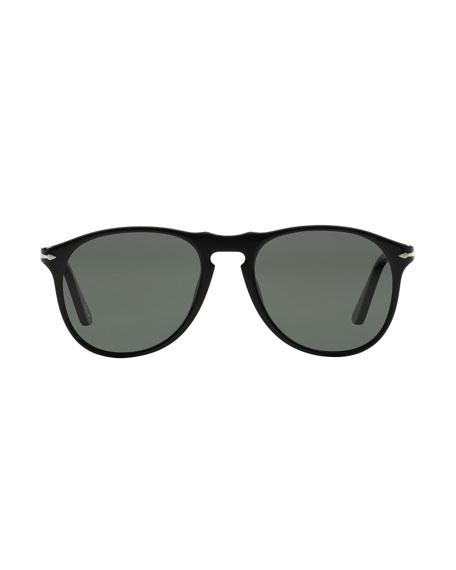 Persol Men's Round Aviator Sunglasses