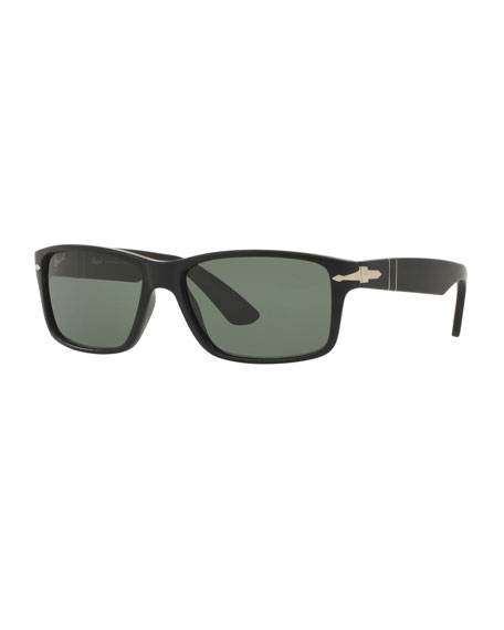Persol Men's Rectangle Acetate Sunglasses