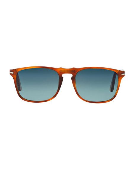 Persol Men's Flat-Top Square Sunglasses - Gradient Polarized