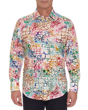 b249ac2519 Men's Casual Button-Down Shirts at Neiman Marcus