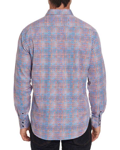 Robert Graham Men's Straton Multicolor Grid-Print Sport Shirt