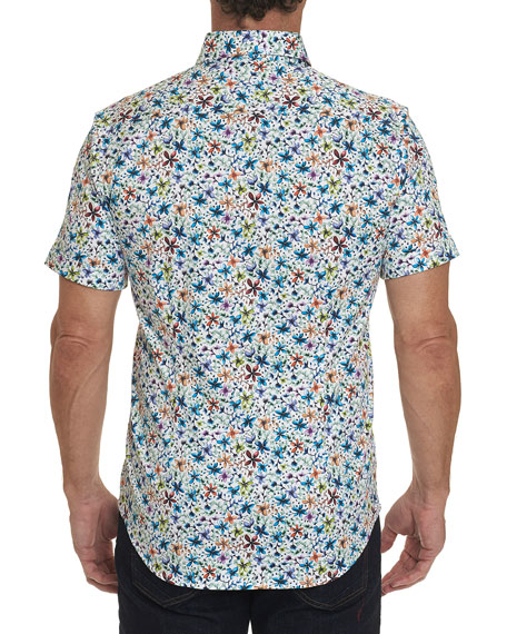 Robert Graham Men's Calico Floral-Print Button-Down Shirt