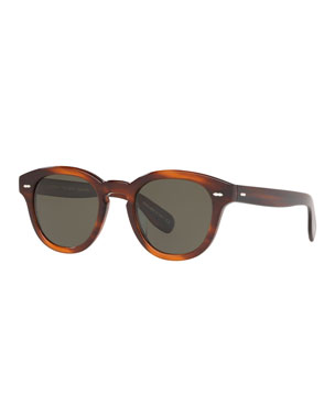 3c4cd38cc5412 Oliver Peoples Men s Rounded Bold Acetate Sunglasses
