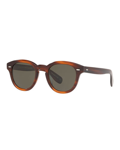 Men's Rounded Bold Acetate Sunglasses