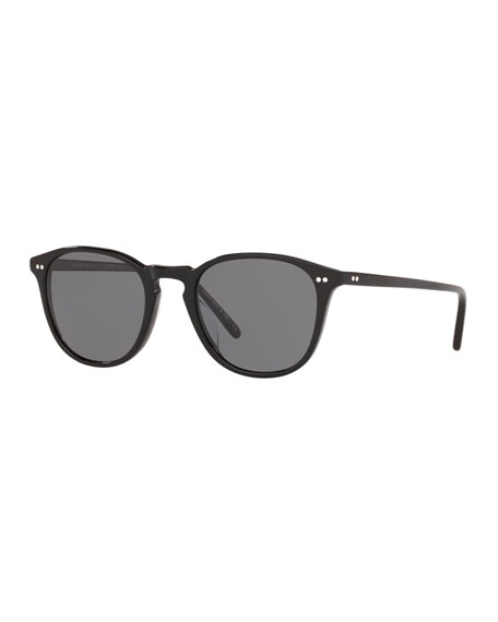 Oliver Peoples Men's Forman L.A. Polarized Round Acetate Sunglasses