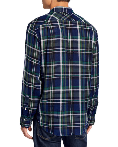 Rag & Bone Men's Fit 3 Plaid Beach Shirt w/ Pocket