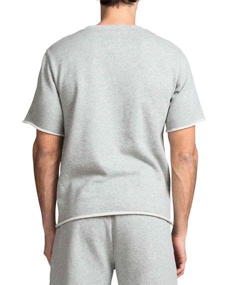PRPS Men's Crewneck Short-Sleeve Fleece Stripe Top