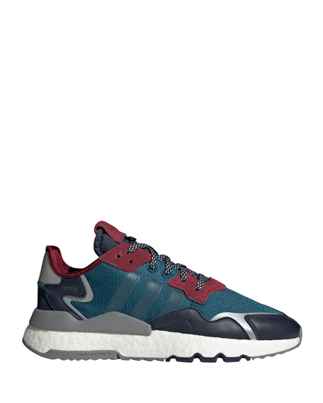 Adidas Men's Nite Jogger Lace-Up Reflective Running Sneakers
