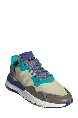 Adidas Men's Nite Jogger Multicolor Leather Trainer Sneakers