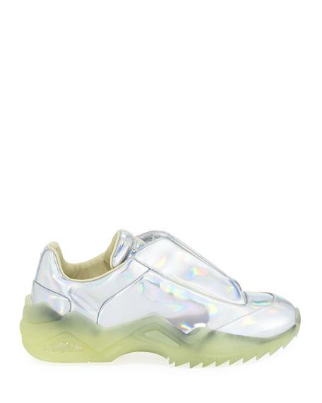 Maison Margiela Men's New Future Chunky Metallic Hidden-Lace Sneakers