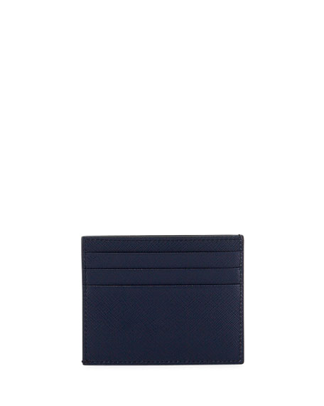 Prada Men's Striped Leather Card Case