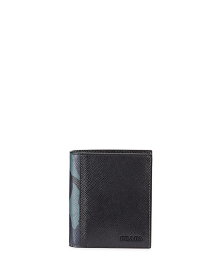 Prada Men's Saffiano Active Leather Wallet with Camouflage