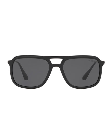 Image 2 of 2: Men's Square Retro Acetate Sunglasses
