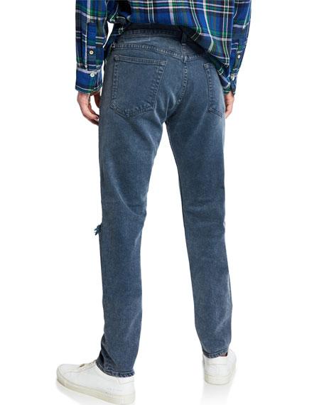 Rag & Bone Men's Standard Issue Fit 1 Slim-Skinny Jeans w/ Ripped Knees