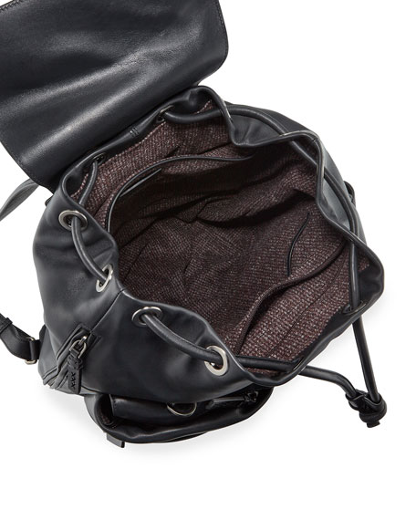 Image 2 of 3: Ermenegildo Zegna Men's Lanificio Leather Backpack