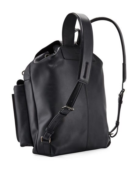 Image 3 of 3: Ermenegildo Zegna Men's Lanificio Leather Backpack
