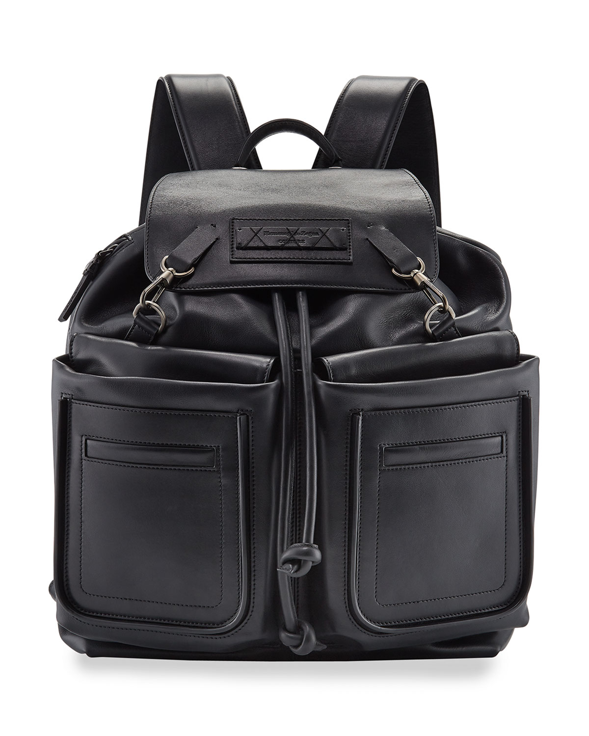 Ermenegildo Zegna Men's Lanificio Leather Backpack