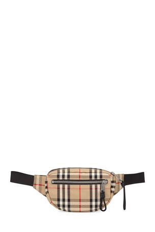 Burberry Men's Vintage Check Belt Bag/Fanny Pack