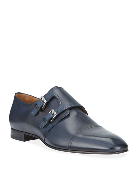 Mortimer Double-Monk Red Sole Loafers