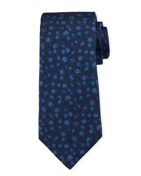 Kiton Men's Mini Floral Silk Tie