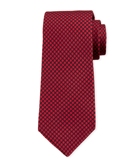 Kiton Men's Houndstooth Silk Tie