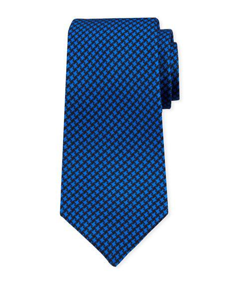 Kiton Men's Houndstooth Silk Tie