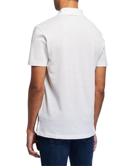 Ralph Lauren Men's Jersey Pocket Polo Shirt, White