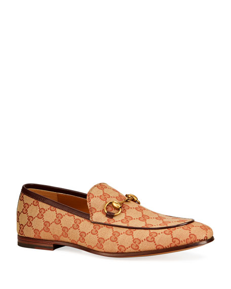Gucci Men's New Jordan GG-Supreme Canvas Loafers