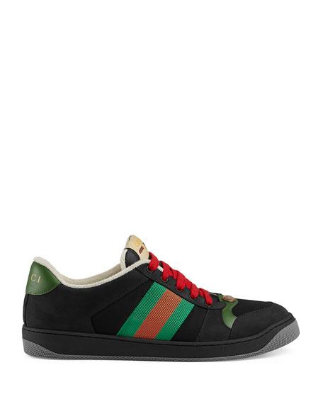 Gucci Men's Screener Low-Top Lace-Up Sneakers