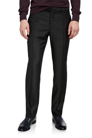 Ermenegildo Zegna Men's Loden Achill Twill Regular-Fit Trousers