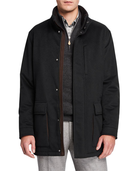 Ermenegildo Zegna Men's Elements Cashmere Coat