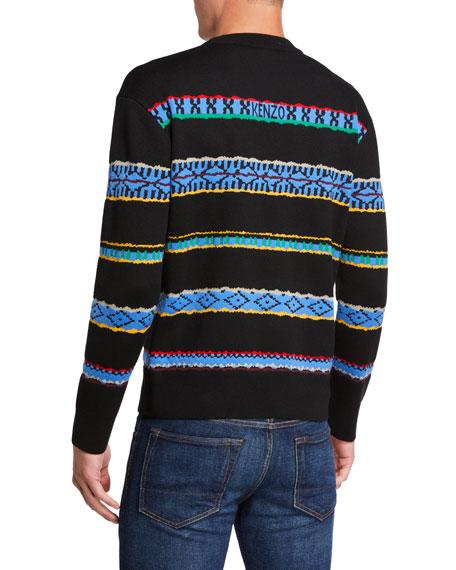 Kenzo Men's Peruvian Striped Crewneck Sweater
