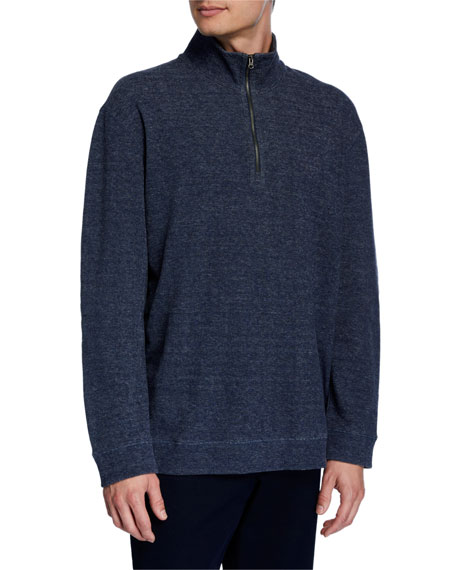 Vince Men's Quater-Zip Cotton Sweater