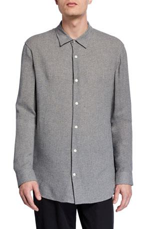 Vince Men's Fine Twill Woven Sport Shirt $171.00