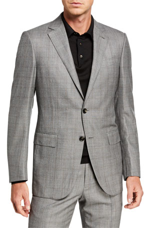 Ermenegildo Zegna Men's Prince of Wales Two-Piece Regular-Fit Suit