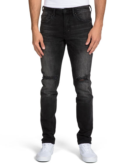 PRPS Men's Faded Distressed Jeans