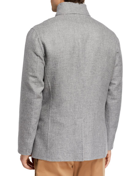 Brunello Cucinelli Men's Reversible Four-Button Coat