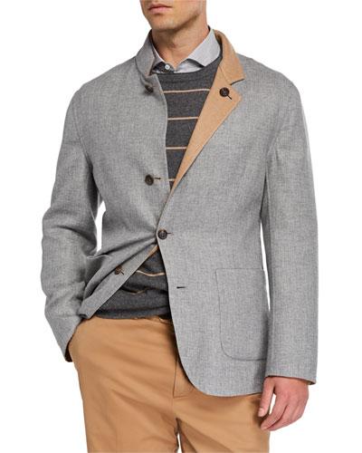 Men's Reversible Four-Button Coat