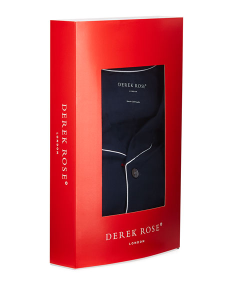 Derek Rose Men's Basel 1 Jersey Pajamas w/ Piping