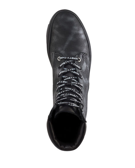 Wolverine Men's x Vic Mensa 1000 Mile Tall Combat Sneakers, Anthracite