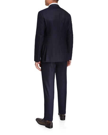 Giorgio Armani Two-Piece Virgin Wool Micro Neat Suit