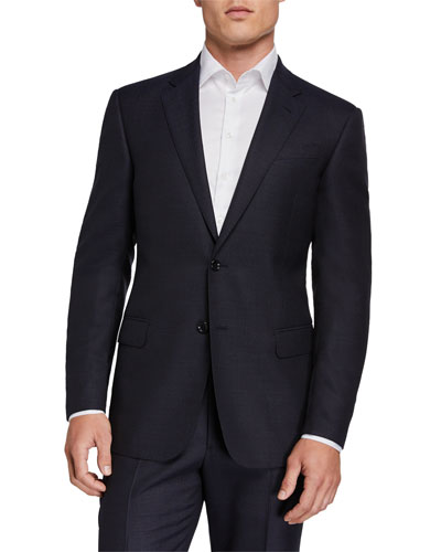 Two-Piece Virgin Wool Micro Neat Suit