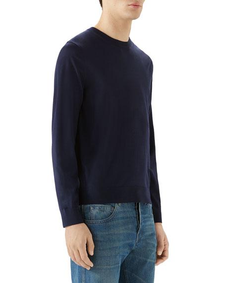 Gucci Men's Fine Knit Crewneck Sweater