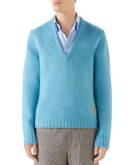 Gucci Men's Wool V-Neck Sweater
